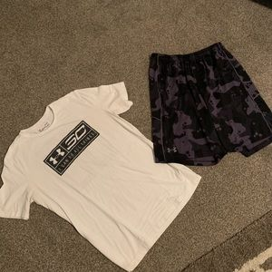 Under Armour Curry basketball shorts shirt large